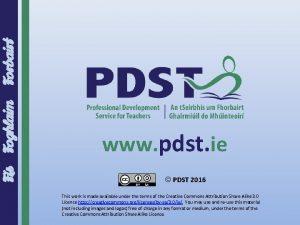 Forbairt Fs Foghlaim www pdst ie PDST 2016
