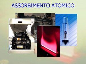 ASSORBIMENTO ATOMICO La spettrofotometria di assorbimento atomico AAS