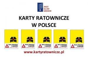 KARTY RATOWNICZE W POLSCE www kartyratownicze pl CO