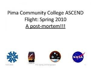 Pima Community College ASCEND Flight Spring 2010 A