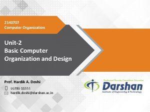 2140707 Computer Organization Unit2 Basic Computer Organization and