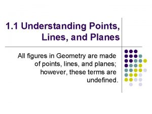 1 1 Understanding Points Lines and Planes All