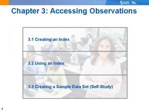 Chapter 3 Accessing Observations 3 1 Creating an