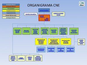 ORGANIGRAMA CNE Jerarqua Nivel 1 Jerarqua Nivel 2
