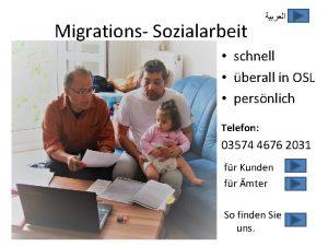 Migrations Sozialarbeit schnell berall in OSL persnlich Telefon