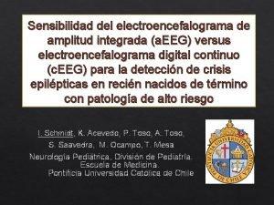 Sensibilidad del electroencefalograma de amplitud integrada a EEG