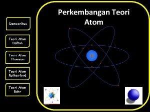 Democritus Perkembangan Teori Atom Dalton Teori Atom Thomson