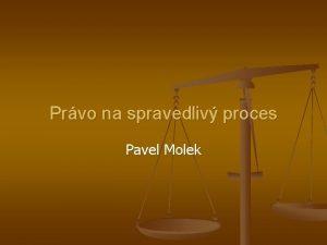 Prvo na spravedliv proces Pavel Molek vod Struktura