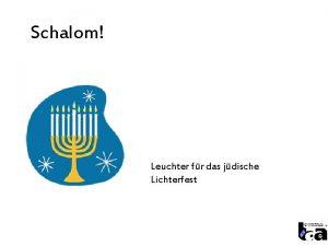 Schalom Leuchter fr das jdische Lichterfest Gr Gott