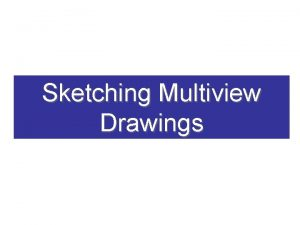Sketching Multiview Drawings Multiview Drawing A multiview drawing