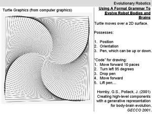 Turtle Graphics from computer graphics Evolutionary Robotics Using