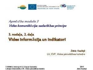 Apmcbu modulis 3 Vides komunikcija sadarbbas princips 3