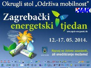 Okrugli stol Odriva mobilnost Projekt demonstrira promovira i