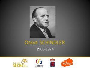 OSKAR SCHINDLER 1908 1974 DBUT DE VIE 1908