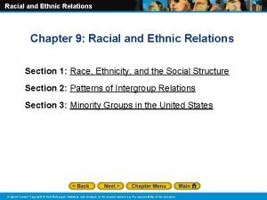 Racial and Ethnic Relations Chapter 9 Racial and