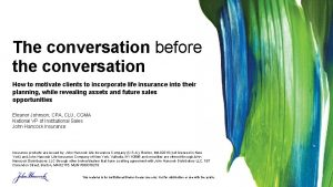 The conversation before the conversation How to motivate
