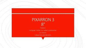 PIXARRON 3 8 TEMAS Lenguaje Verbal no verbal