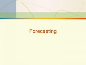 3 1 Forecasting 3 2 Forecasting FORECAST A