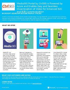 Media 365 Portal by Ctrl 365 is Powered