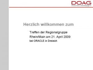 Herzlich willkommen zum Treffen der Regionalgruppe RheinMain am