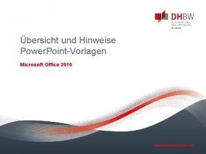 bersicht und Hinweise Power PointVorlagen Microsoft Office 2010