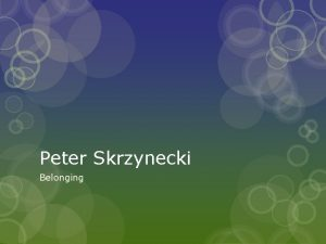 Peter Skrzynecki Belonging Biography Peter Skrzynecki pronounced sherneski