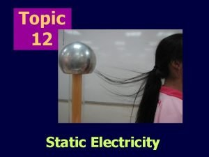 Topic 12 Static Electricity contents Electric charges Laws