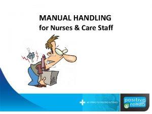 MANUAL HANDLING for Nurses Care Staff Manual Handling