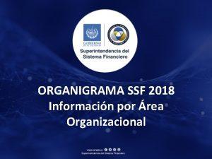 ORGANIGRAMA SSF 2018 Informacin por rea Organizacional Consejo
