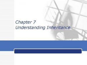 Chapter 7 Understanding Inheritance LOGO Objectives v Learn