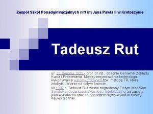 Zesp Szk Ponadgimnazjalnych nr 3 im Jana Pawa