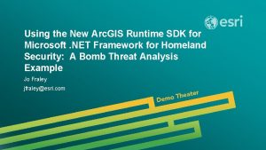 Using the New Arc GIS Runtime SDK for