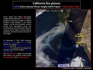California fire plumes MISR Active Aerosol PlumeHeight AAP