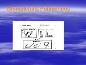 Biomateriais Polimricos Polmeros Biocompatveis Polmeros Biocompatveis Polmeros Biocompatveis