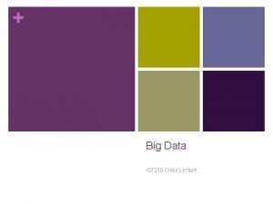 Big Data IST 210 Class Lecture Big Data