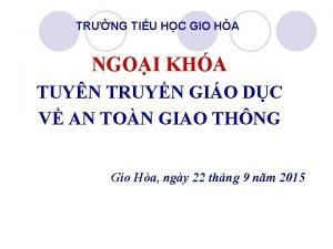 TRNG TIU HC GIO HA NGOI KHA TUYN