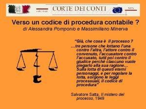 Verso un codice di procedura contabile di Alessandra