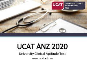 UCAT ANZ 2020 University Clinical Aptitude Test www