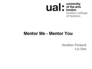 Mentor Me Mentor You Heather Pickard Liz Gee
