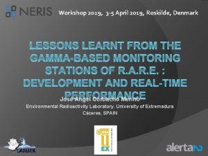 Workshop 2019 3 5 April 2019 Roskilde Denmark