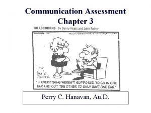 Communication Assessment Chapter 3 Perry C Hanavan Au