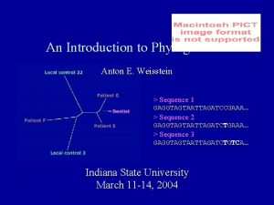 An Introduction to Phylogenetics Anton E Weisstein Sequence