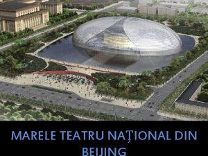 MARELE TEATRU NAIONAL DIN Marele Teatru Naional din