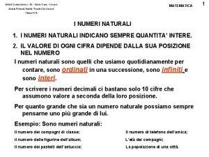 Istituto Comprensivo n 19 Santa Croce Verona MATEMATICA