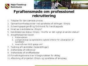 Fyraftensmde om professionel rekruttering 1 2 3 4
