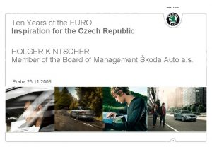 SIMPLY CLEVER Ten Years of the EURO Inspiration
