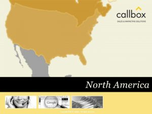 Copyright 2010 Callbox All rights reserved CALLBOX SALES