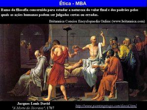 tica MBA Ramo da filosofia concernida para estudar