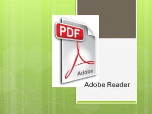Adobe Reader PDF PDF un format de fiier