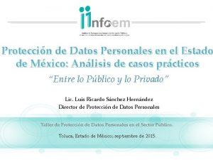 Proteccin de Datos Personales en el Estado de